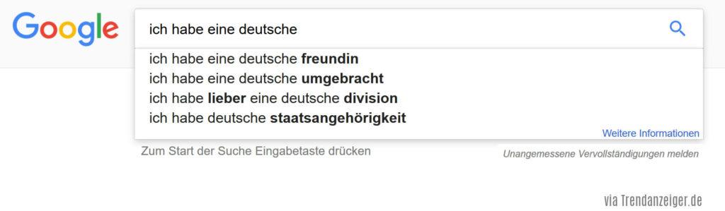 Ich habe eine Deutsche umgebracht